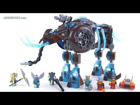 LEGO Chima 70145 Maula's Ice Mammoth Stomper review! Summer 2014