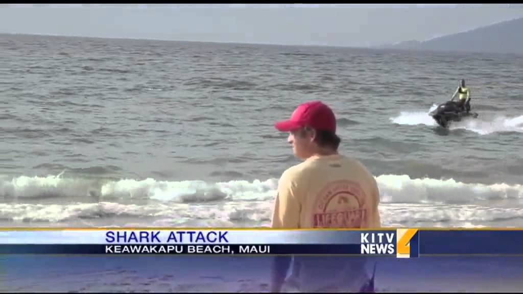 Shark attack leads to closure of Maui's south shore beaches - YouTube