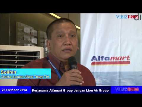 Peresmian Kerjasama Alfamart dan Lion Air Group, Vibiznews 23 Oktober