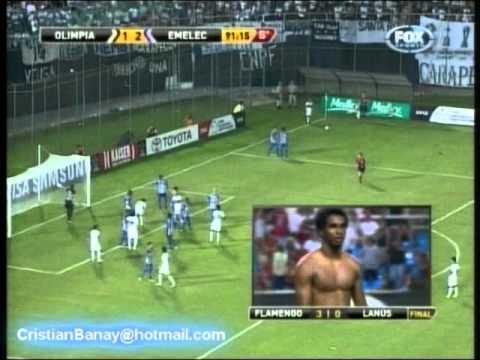 Olimpia 2 Emelec 3 Copa Libertadores 2012 Los goles (12-4-2012)