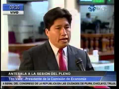 EN DIALOGO CON TVCONGRESO sobre el nuevo Premier César Villanueva y trabajos de la comisión de Econo