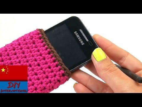 自制 编织 钩针 钩织 简易 实用 简单 方便 手机套 智能手机保护壳 教学