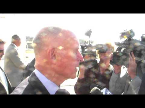 LAX Shooting Video: Gov Jerry Brown Interview
