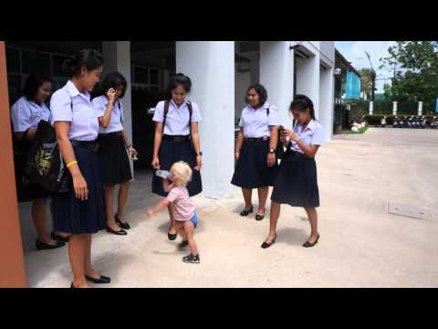 Thai Surat Thani school girls and Roma part 1