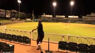 [Unbelievable Baseball Basketball Shot!] Video