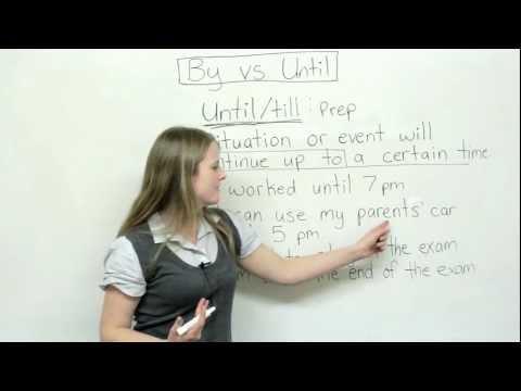 English Grammar - By or Until?