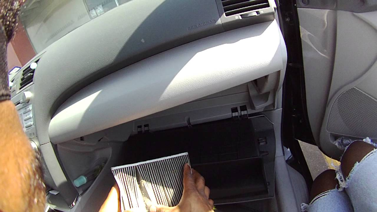 2011 toyota camry air cabin filter youtube. Black Bedroom Furniture Sets. Home Design Ideas