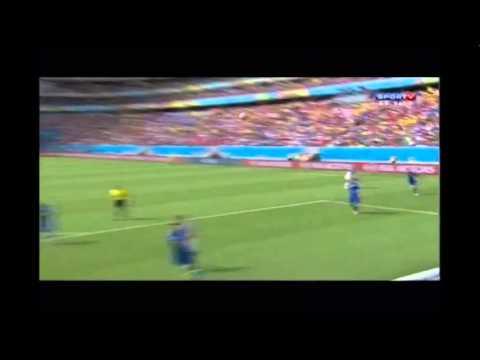 Italia vs Costa Rica 0-1 Bryan Ruiz Goal vs Italy - World Cup - 2014