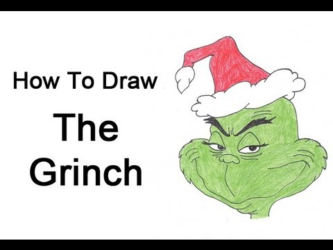 how to draw the grinch full body step by step
