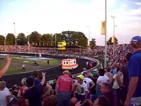 RTW DRK Güstrow bei der Speedway Europameisterschaft 6.07.2014 in Güstrow