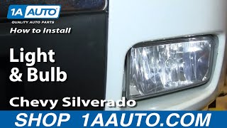 How To Install Replace Change Fog Light And Bulb 2007-13