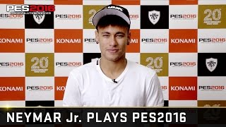PES 2016 - Neymar Jr. plays PES 2016