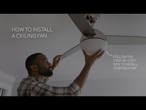 how to install a ceiling fan kichler lighting watch our video for an easy to follow step by step instructions on how to install a ceiling fan
