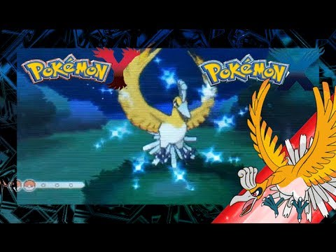 Pokemon X and Y Shiny Ho-Oh, One of the best shiny legendary pokemon.