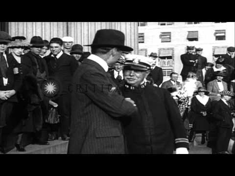 US Secretary of the Treasury, William Gibbs McAdoo launches Fourth Liberty Loan D...HD Stock Footage