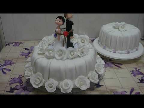 bolo noivas rosas noivinhos