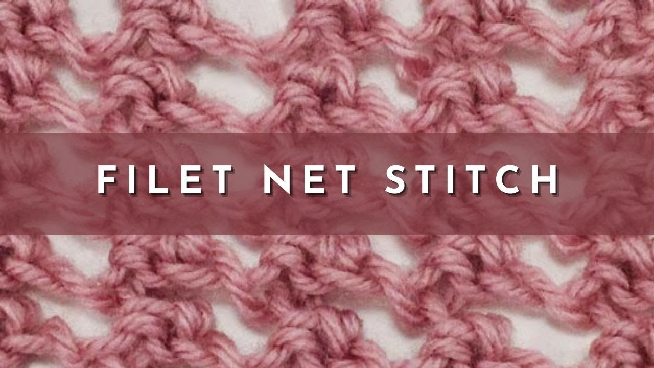 How to Knit the Filet Net Stitch (english style) - YouTube