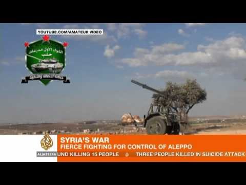 Fierce fighting for control of Syria's Aleppo