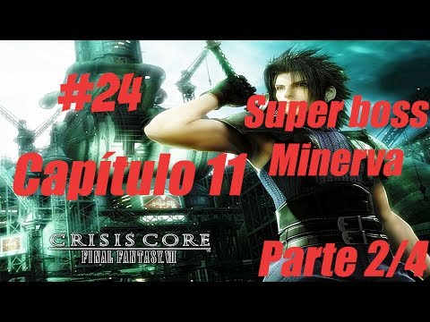 Crisis Core Final Fantasy VII Detonado #24 Capítulo 11 Parte 2/4 Super Boss Minerva
