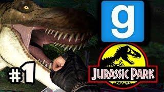 FALLOPIAN TUBE-OSAURUS Gmod Jurassic Park W/ Nova, Kevin