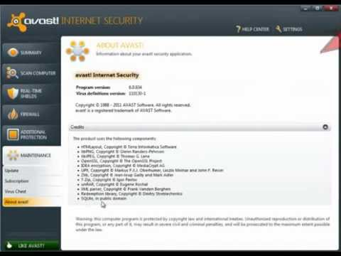 Avast 7.0.1426 Internet Security license key file activation code &amp; avast 7 key Serial key 7.0.1426