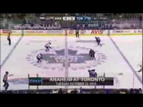 Anaheim Ducks at Toronto Maple Leafs - Game in Six - 22/10/2013