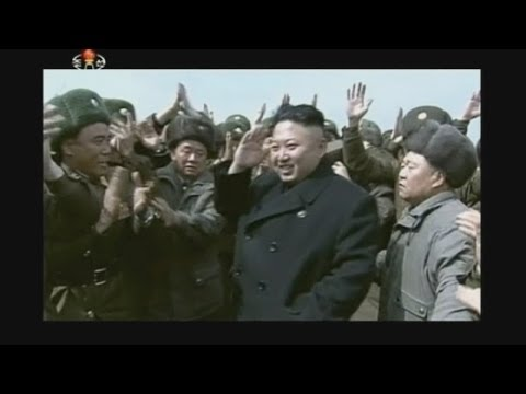 North Korea: Smiling Kim Jong-un meets soldiers in bizarre footage