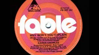 Karen Knowles Why Won't You Explain. (CD & Stereo)