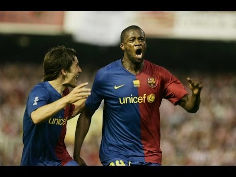 Touré Yaya's goals for FC Barcelona