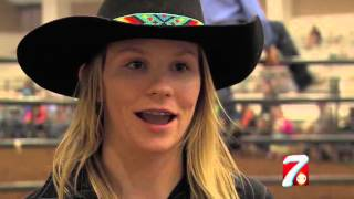 Teenage Girl Challenges Boys in Bull Riding