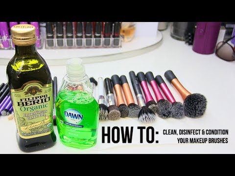 how to deep clean disinfect condition your makeup brushes youtube. Black Bedroom Furniture Sets. Home Design Ideas