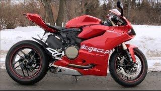 Ducati Panigale 1199 Exhaust Sound & Walkaround, Startup