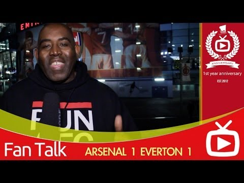 Arsenal 1 Everton 1 Highlights - ArsenalFanTV.com