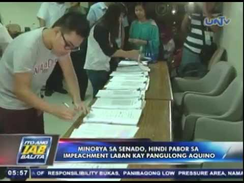 Minorya sa Senado hindi pabor sa impeachment laban kay Pres. Aquino