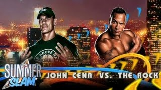 WWE 13 : The Rock Vs John Cena !