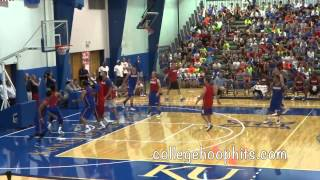 6.11.14 KU Alumni Game - 1st half - Bill Self Camp