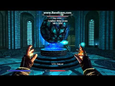 Skyrim: Beating Ancano and becoming the Arch-Mage of The College of Winterhold