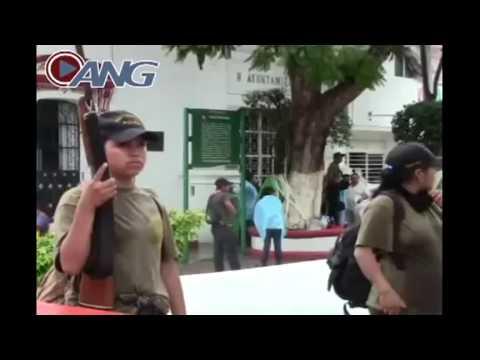 Enfrentamiento Policia comunitaria con policia municipal en Tixtla Guerrero