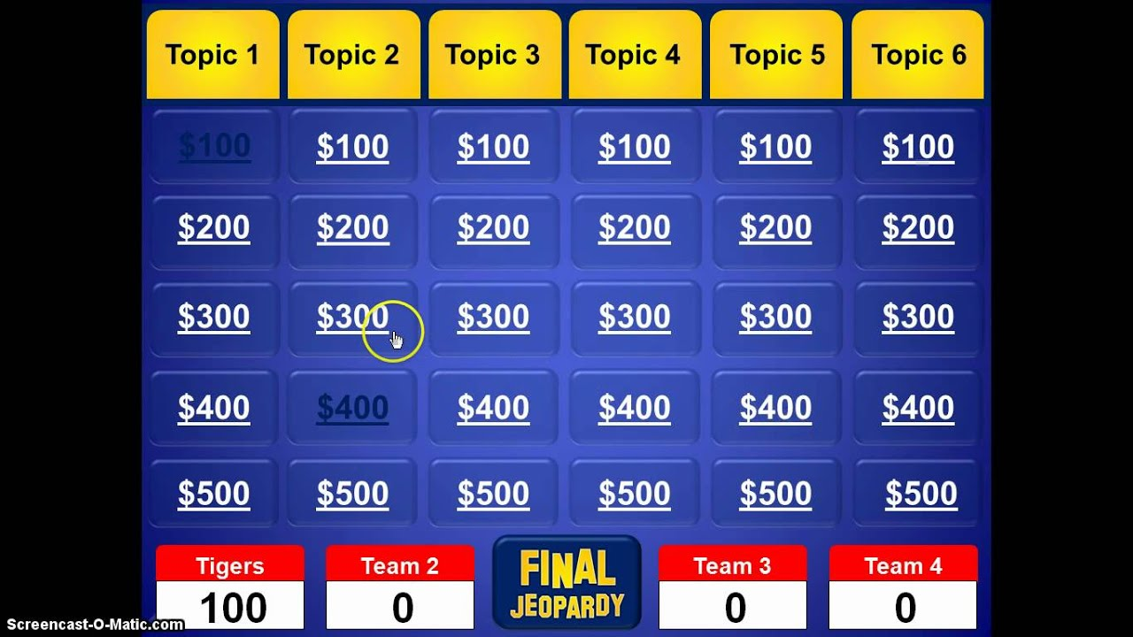 jeopardy powerpoint template youtube. Black Bedroom Furniture Sets. Home Design Ideas