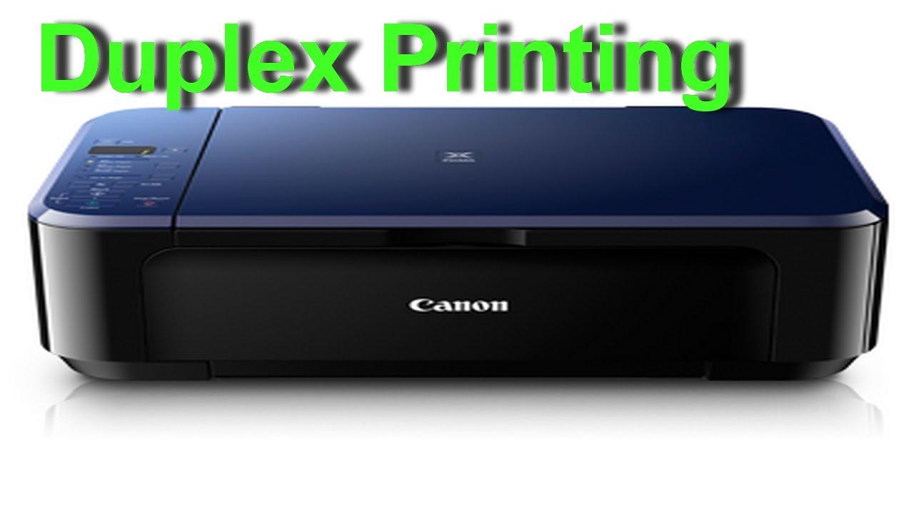 Canon Pixma E510 Duplex Printing Preview Youtube