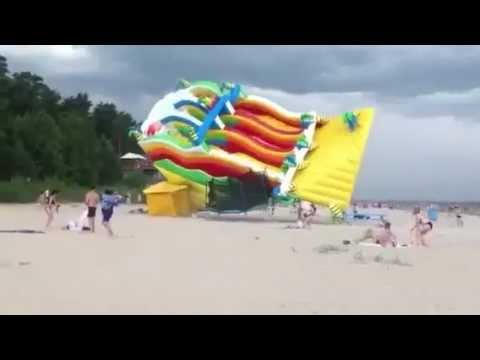 Wind Blows Away Air Castle on the Beach