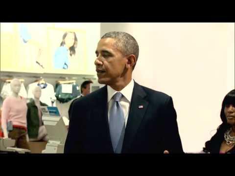 image vidéo Obama s'offre une séance de shopping chez Gap