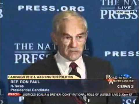 Ron Paul at the National Press Club 10/5/11 (4/4)