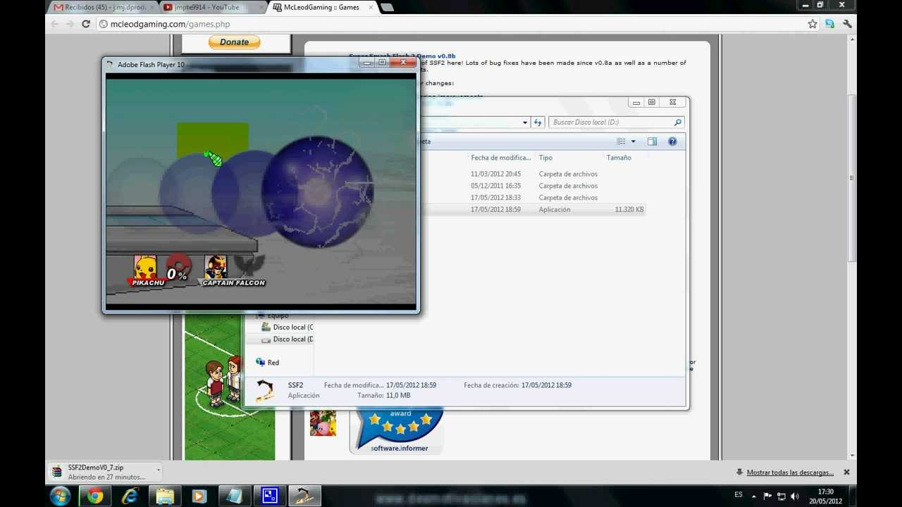 Como descargar super smash flash 2 demo v0 1 hasta v0 8 youtube