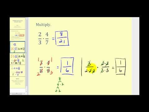 Multiplying Fractions - Positive Only