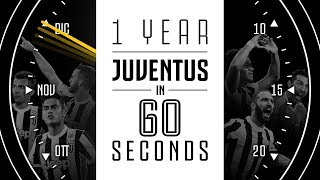 1 Year of Juventus in 60 seconds - Happy 2018