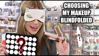 Choosing FULL FACE of Makeup BLINDFOLDED... FAIL
