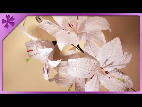 DIY Lilie z bibuły / Tissue paper lilies (+ENG Annotations) - Na szybko #16