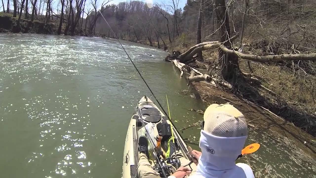 Kayak fishing the harpeth river youtube for Youtube kayak fishing