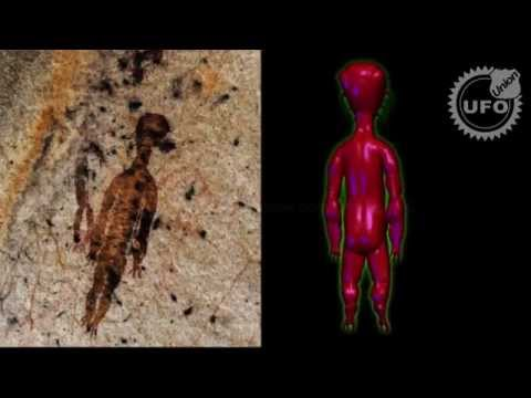 Breaking: 10000 year old paintings of aliens and ufo found in India